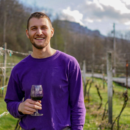 mike winemaker at grandfather vineyard