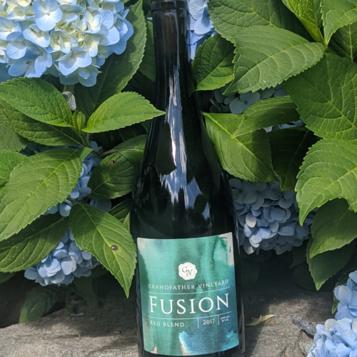 Fusion red blend, grandfather vineyard red wine